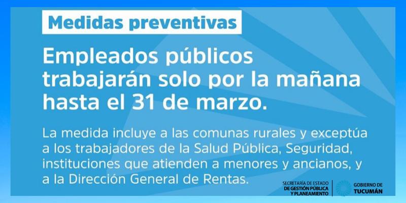 MEDIDAS PREVENTIVAS PARA EMPLEADOS PÚBLICOS